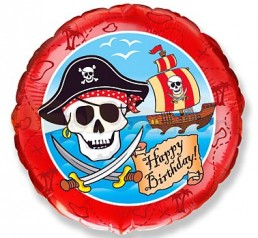 Pirate Happy Birthday léggömb