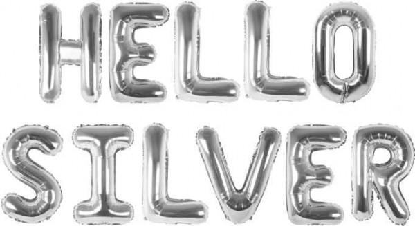 Ezüst fólia betű