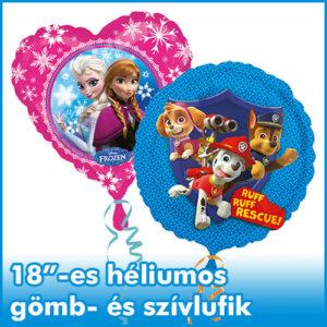 """18"""" héliumos gömb és szív"""