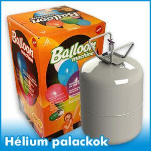 Hélium palackok