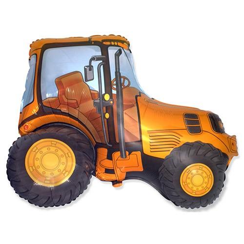 Sárga traktor